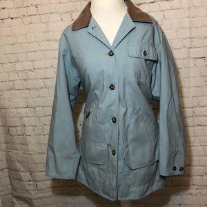 LL Bean Adirondack Barn Coat Jacket Blue Field